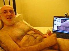 Richard the Wanker wanking on a webcam 4