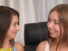 Beautiful Teens Drinking Piss