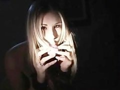 SEXY BITCH GETTING A GOOD FUCK IN THE DARK..NICE SCENE!!
