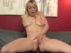 .Adrianna Nicole takes two black cocks