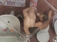 ivanas morning loving in bathroom