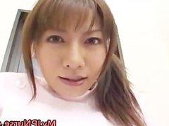 Aki Yatoh Cute Asian nurse shows off part1
