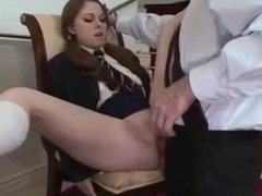 Scarlett Fay Shortest Schoolgirl Skirt Imaginable gets Exploited