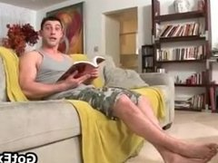 Fucking gay ass and sucking cock on sofa part2