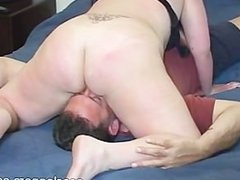 Man licks mistress' holes while mistress sucks his cock