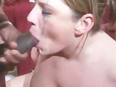 hick white slut gets gangbanged by several BBC