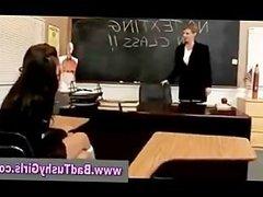 Bad schoolgirl gets spanked by teacher