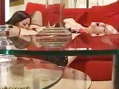 Blonde whore gets ass fucked with dildo part1