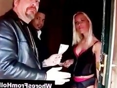 Young guy meets and is sucked by blonde hooker