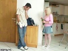 Bigcocked guy is drilling his wife's mom pussy
