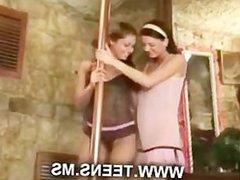 Lesbian pole dancing