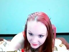 Busty Redhead Tattoo Babe Booty Dances HD