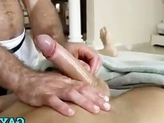 Client and masseur go gay