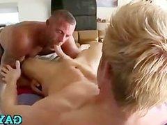 Gay masseur meets first-timer