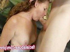 Ginger Slut Gets Throated