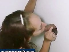 Gloryhole amateur public blowjob slut