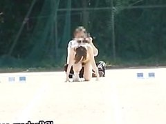 Free jav of Asian girls run a nude track part4