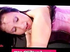 Bukkake loving slut fucking and facial
