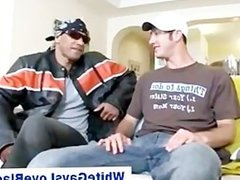Real amateur black gay guy give white guy a blowjob