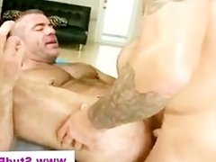 Gay masseur assfucked and jizzed by straight client