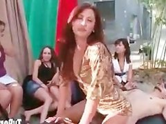 2 Dudes get Humiliated by Group of Girls on Reality Porn Show