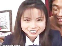 Nasty Japanese schoolgirl gets fingered part4