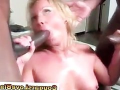 Watch interracial mature bitch take big black dick