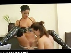 Lesbian honey gets hammered with glass toy part6