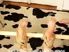 Foot Torture 120 Pins in feet