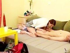 Horny teen babe inserted