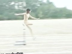 Asian amateur in naked track and field part1