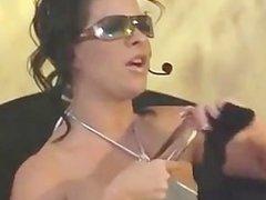Busty British MILF fucks herself with a dildo
