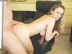 Hot White Jizz on her Face HD