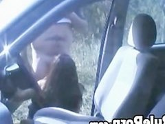 Public Creampie In Car