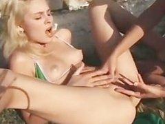 garden lesbians fingering pussies