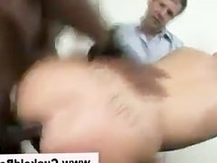 Interracial cuckold taunting slut