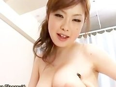 Asian nurse in stockings gets hot