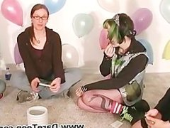 Goth chick play truth or dare