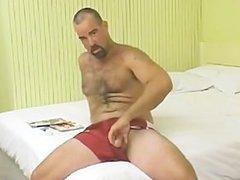 Hairy Aussie Bear Wanks & Sucked Off