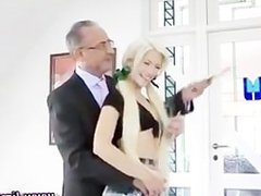 Older guy younger girl fuck and blowjob
