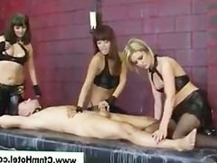 Cfnm babes suck cock and give a handjob