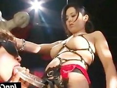 Male slave gets tortured by Asian mistress