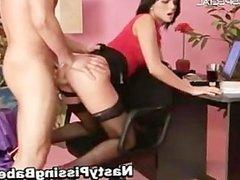 Slut in stockings gets pissed in her part5