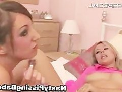 Hot lesbian babes playing with huge part1