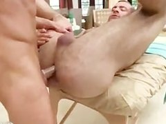 Stud gets dick sucked during massage part1