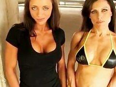 Two Girls Pecs/Boobs Bouncing/Dancing