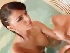 Hot Ass Romanian Tattoo Ass Black Angelica Pool Sex on Armchair
