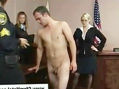 Man gets his punishment by cfnm femdom judge