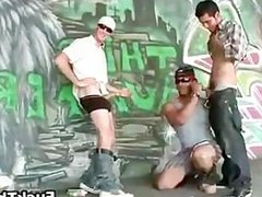 White trash gets sucked by black thug part3