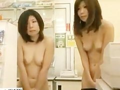 National nude day Japan with nudist female employees